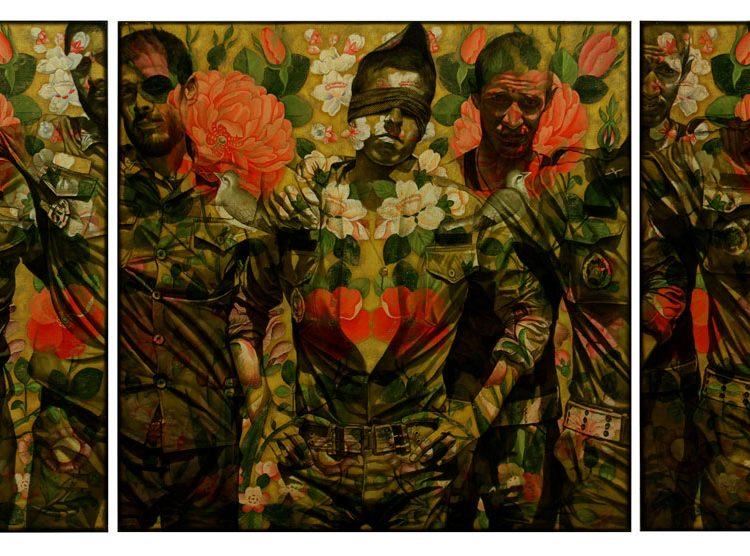 300 . 100 cm , oil and acrylic on canvas