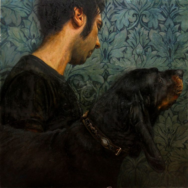 95 . 95 cm , oil on canvas