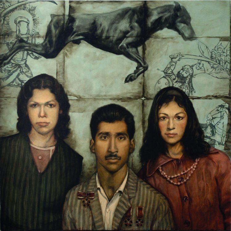 120 . 120 cm , oil on canvas