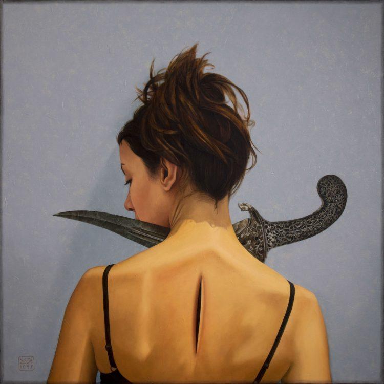 150 . 150 cm , oil and acrylic on canvas