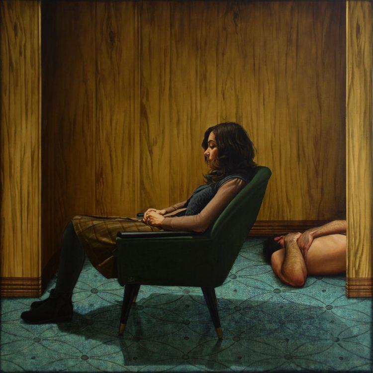 180 . 180 cm , oil and acrylic on canvas