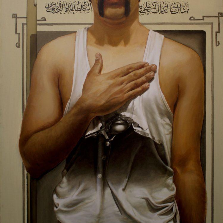 120 . 90 cm , Self Portrait, oil on canvas