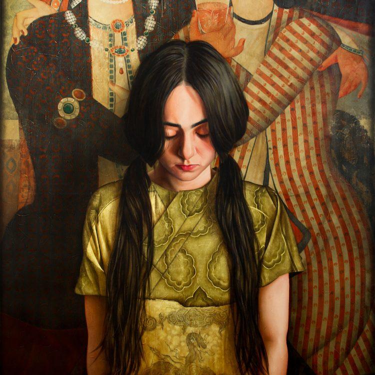170 . 140 cm , Uncertainty, oil and acrylic on canvas